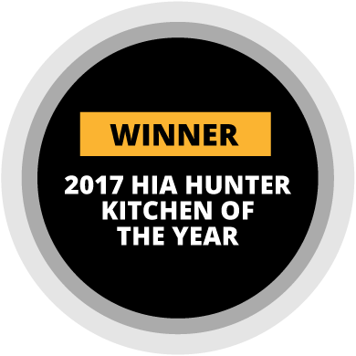 Winner of 2017 HIA Hunter Kitchen of the Year Award